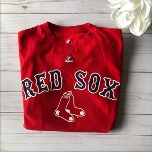 Red Sox tee shirt one love one park red Size small